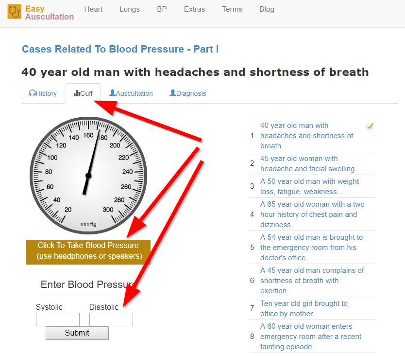 Упражнения за измерване на кръвно налягане