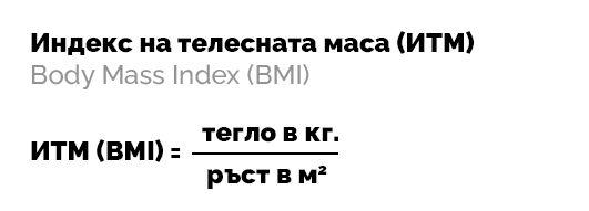 Формула за изчисляване на ИТМ - индекс на телесна маса (BMI)