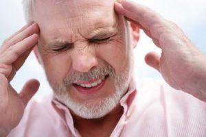 Главоболие, вследствие на високо кръвно налягане.