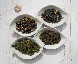 Зелен и черен чай - листа