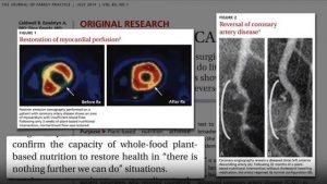 Кадър от презентация на д-р Майкъл Грегър за хранене при най-честите заболявания.